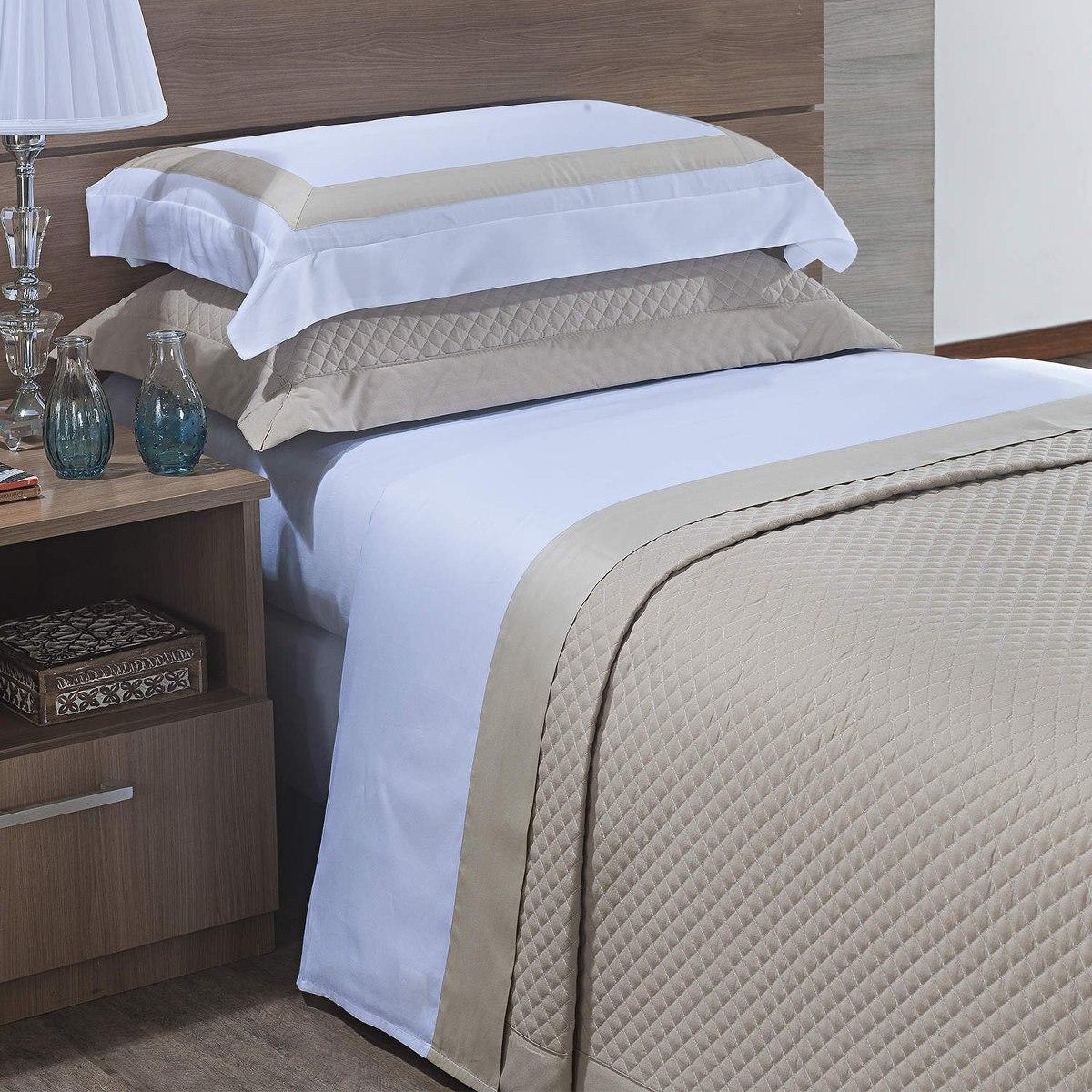 5e752d977f jogo de cama solteiro 300 fios 3 peças algodão siena cj. Carregando zoom.
