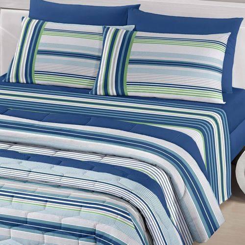 jogo de cama solteiro fabio 3 pçs 100% algodão royalsantista