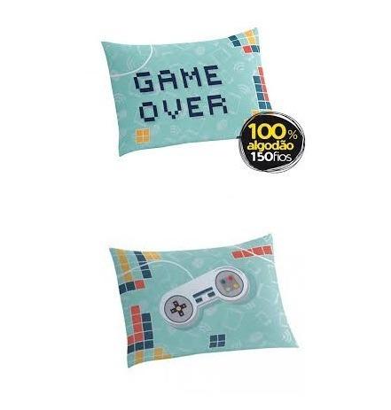 1f388a0199 Jogo De Cama Solteiro Lepper Jovem Games Lençol 100% Algodão - R ...
