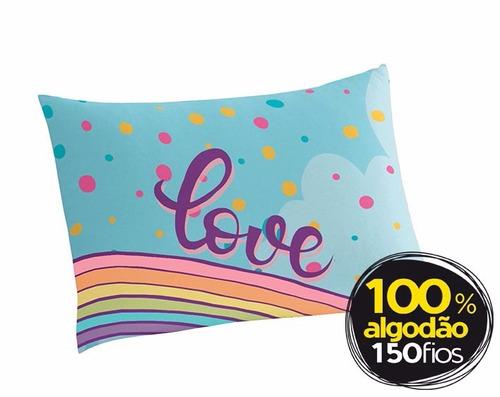 jogo de cama unicórnio 100% algodão 150 fios 3 peças lepper