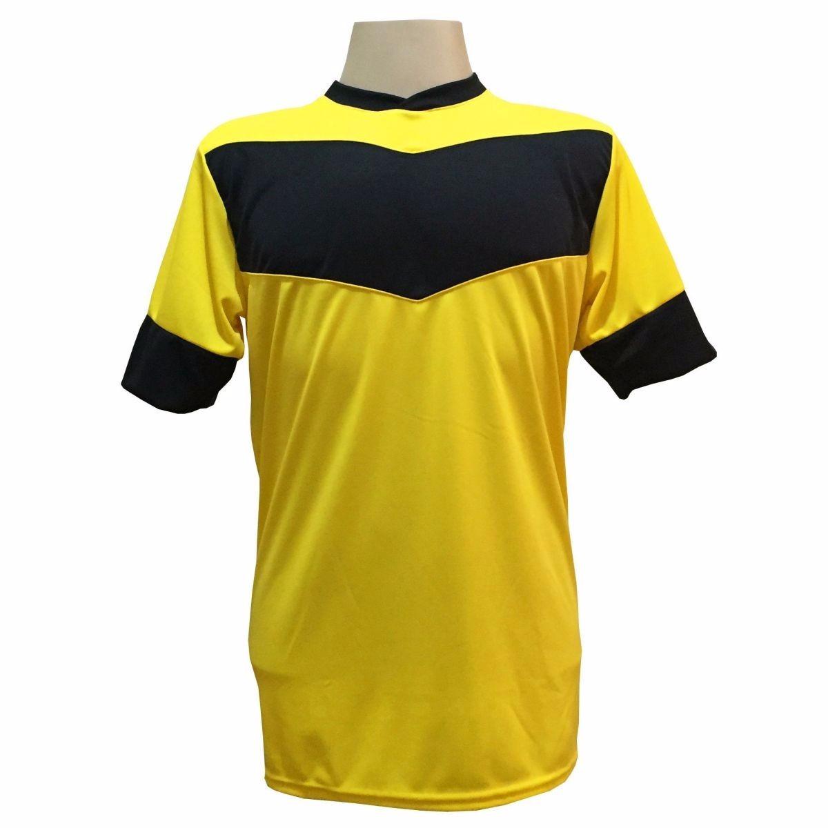jogo de camisa com 18 unidades modelo columbus amarelo preto. Carregando  zoom. 68d37406d83cd