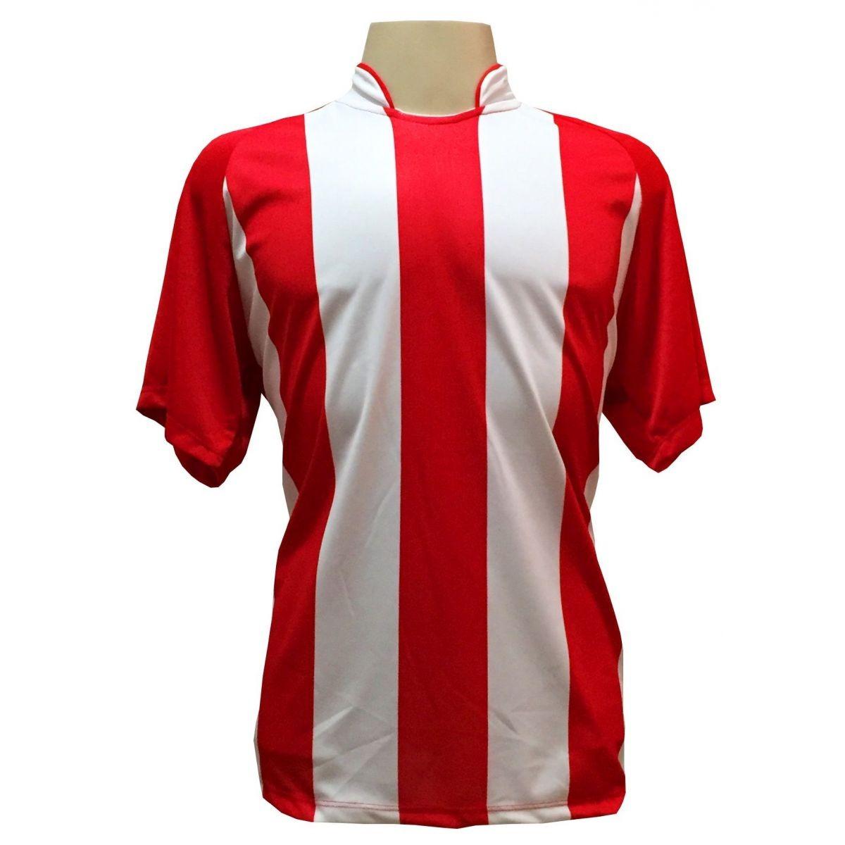jogo de camisa com 18 unidades modelo milan vermelho branco. Carregando  zoom. 61f672e95b6d7