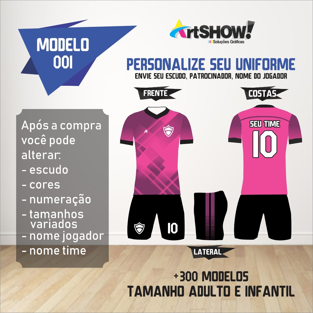 Jogo De Camisa Short 5fa010ca00579