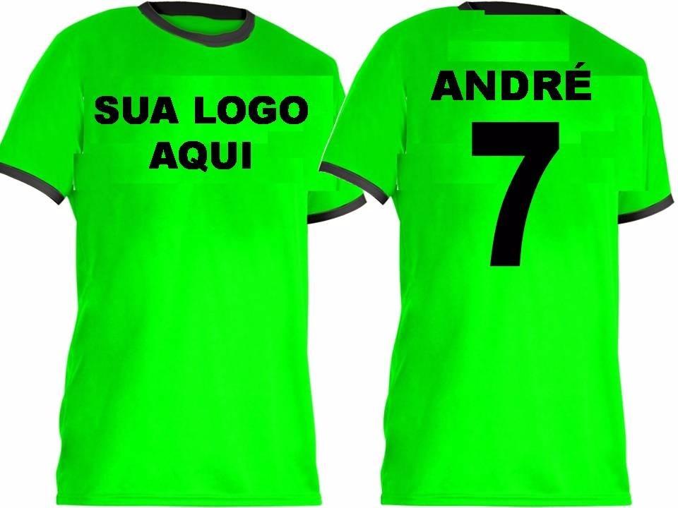 Jogo De Camisas Futebol Personalizada Uniforme - 16 Unid - R  398 7c6144d69d399