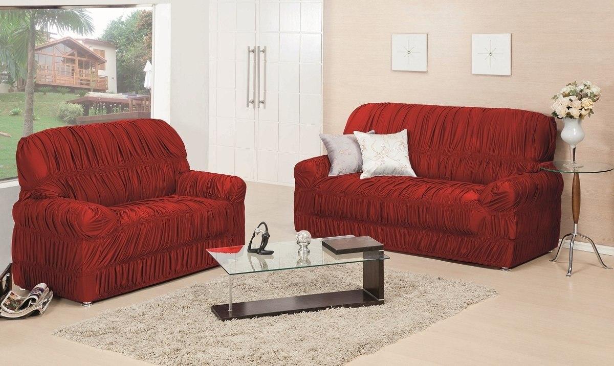 jogo de capa de sof 3 2 1 lugares protetor 21 elasticos r 194 85 em mercado livre. Black Bedroom Furniture Sets. Home Design Ideas