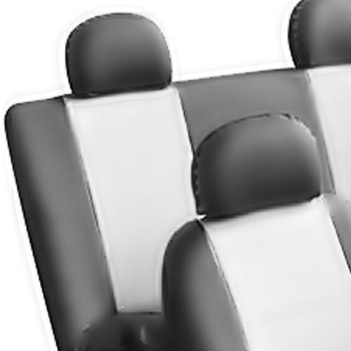 jogo de capas de bancos automotivos couro preto c/ branco