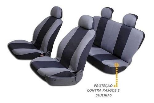 jogo de capas protetora bancos automotivos cinza c/ preto