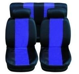 jogo de capas protetoras de bancos automotivos preto c/ azul
