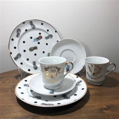 jogo de chá abacaxi 20 anos casamento