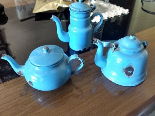 jogo de chá alouçado, muito antigo, peça de colecionador !!!