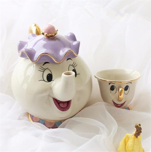 jogo de chá bela e fera pronta entrega