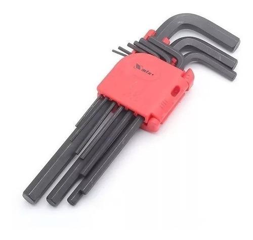 jogo de chaves allen longa 1.5 a 10mm com 9 peças 112319 mtx