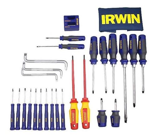 jogo de chaves de fenda e phillips 27 peças 1864841 - irwin