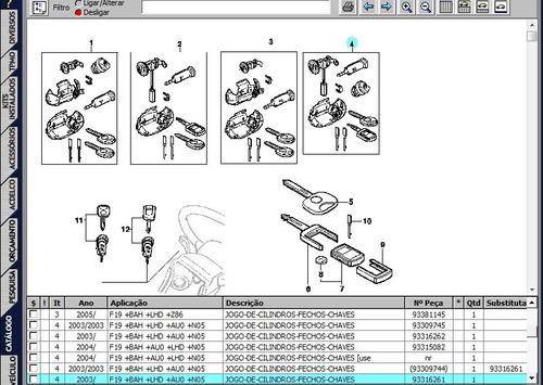 jogo de cilindro e chaves corsa 03 /11 gm 93316261