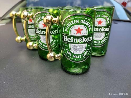 jogo de copos heineken 6 und com alças