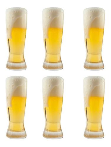 jogo de copos para cerveja em cristal bohemia catarinense 210ml 6 peças