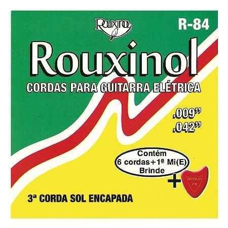 jogo de cordas r84 levinha-guitarra brinde1ªcorda mi+palheta