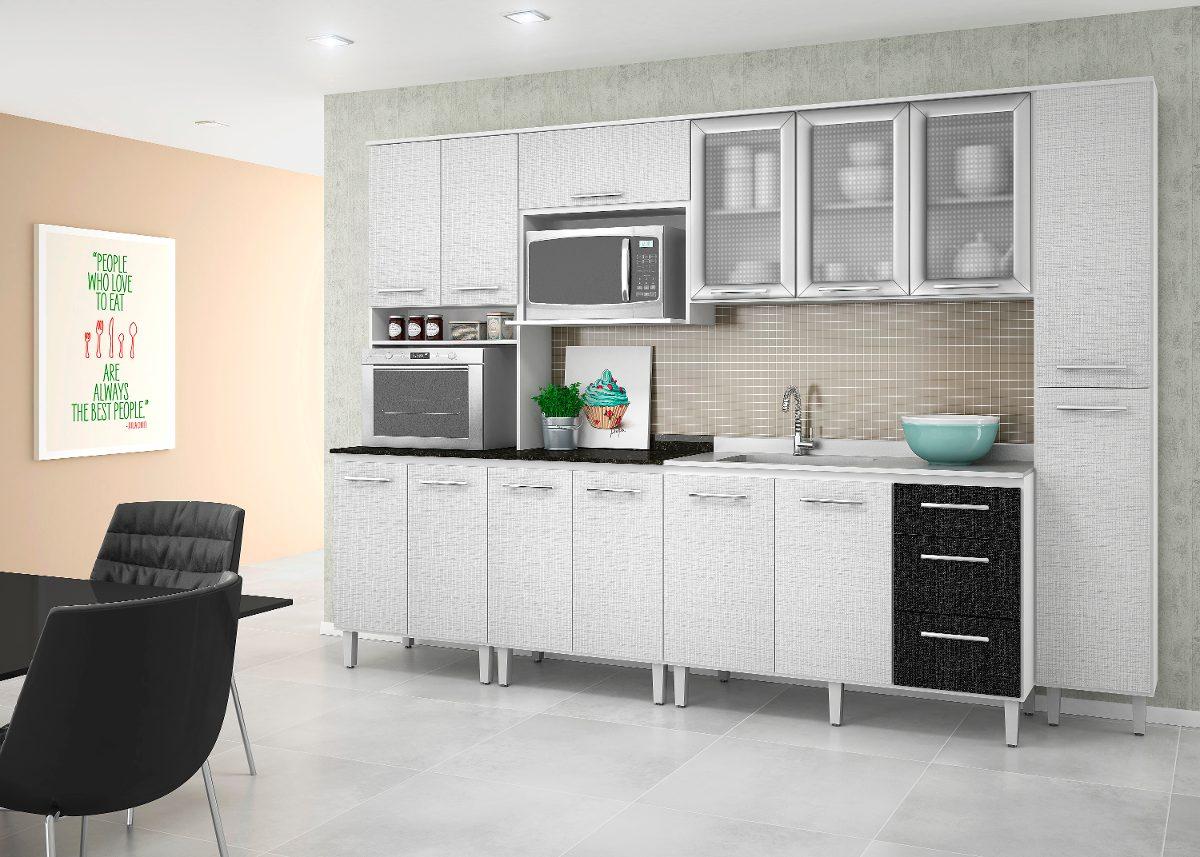 Cozinha Branco Cozinha Modulada Peas Em Ao Bertolini Evidence C