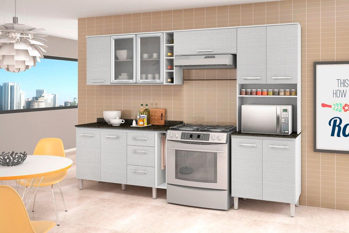 Jogo De Cozinha Completa Branco 3d 100 Mdf Nicioli R 1 269 00