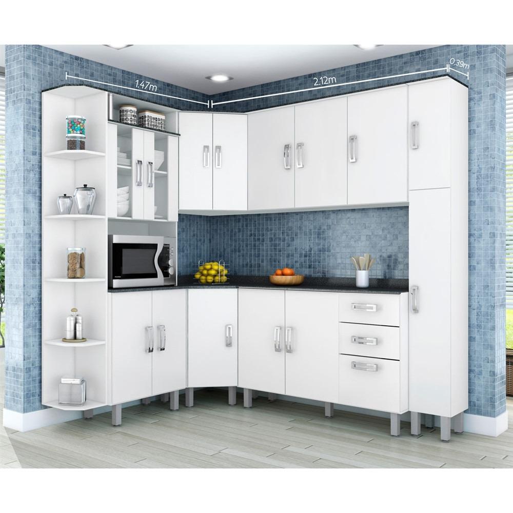 Armario De Cozinha Completo De Canto Oppenau Info