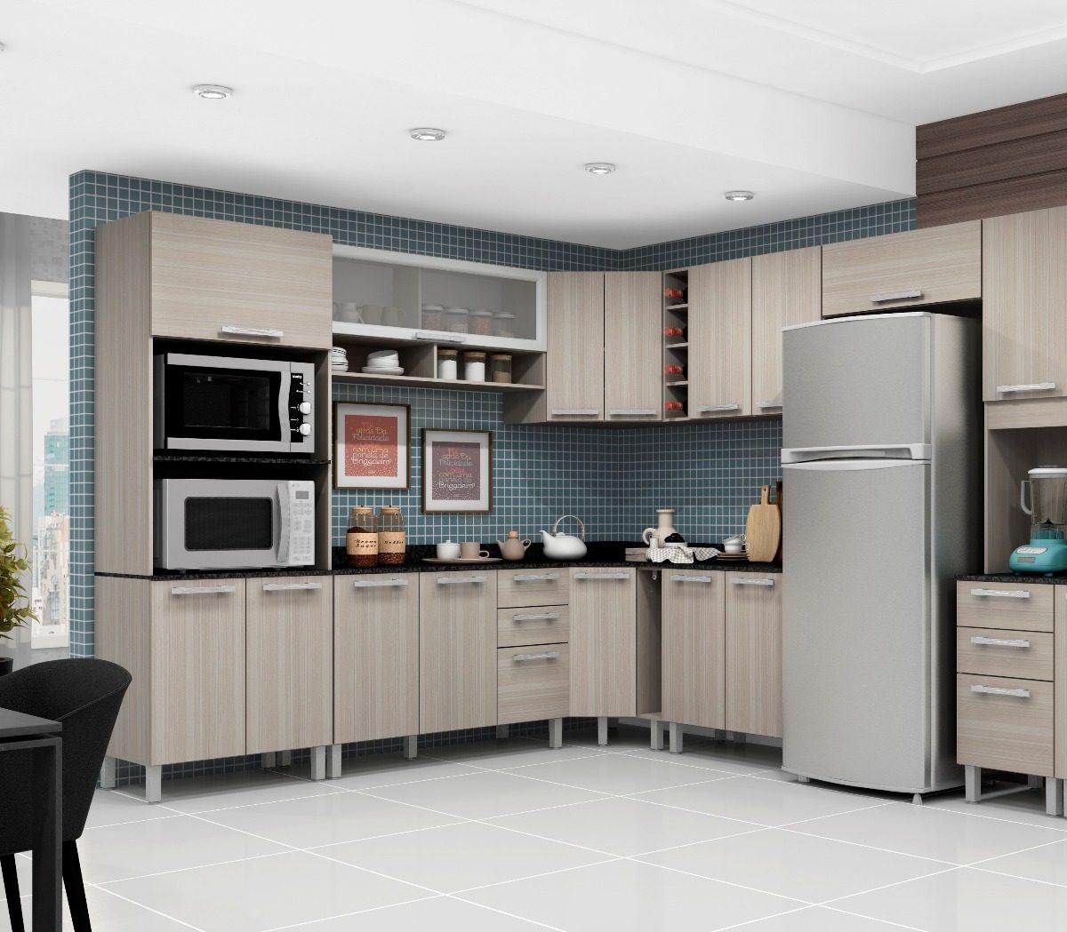 Jogo De Cozinha Completa Modulada 11 Pe As Rovere Poliman R