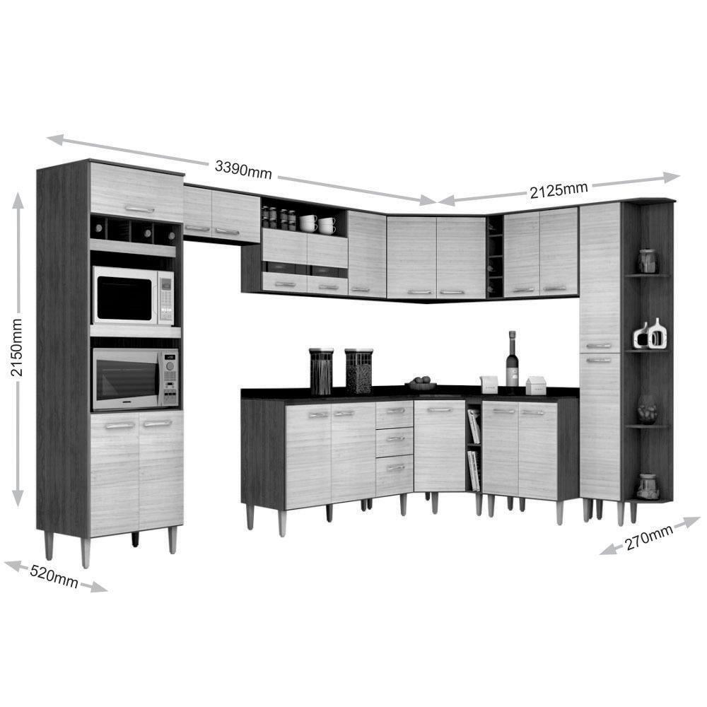 Jogo De Cozinha Completa Modulada 12 Pe As Poquema R 2 390 00