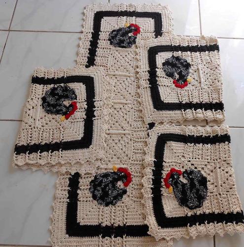 jogo de cozinha em crochê,artesanato decoração