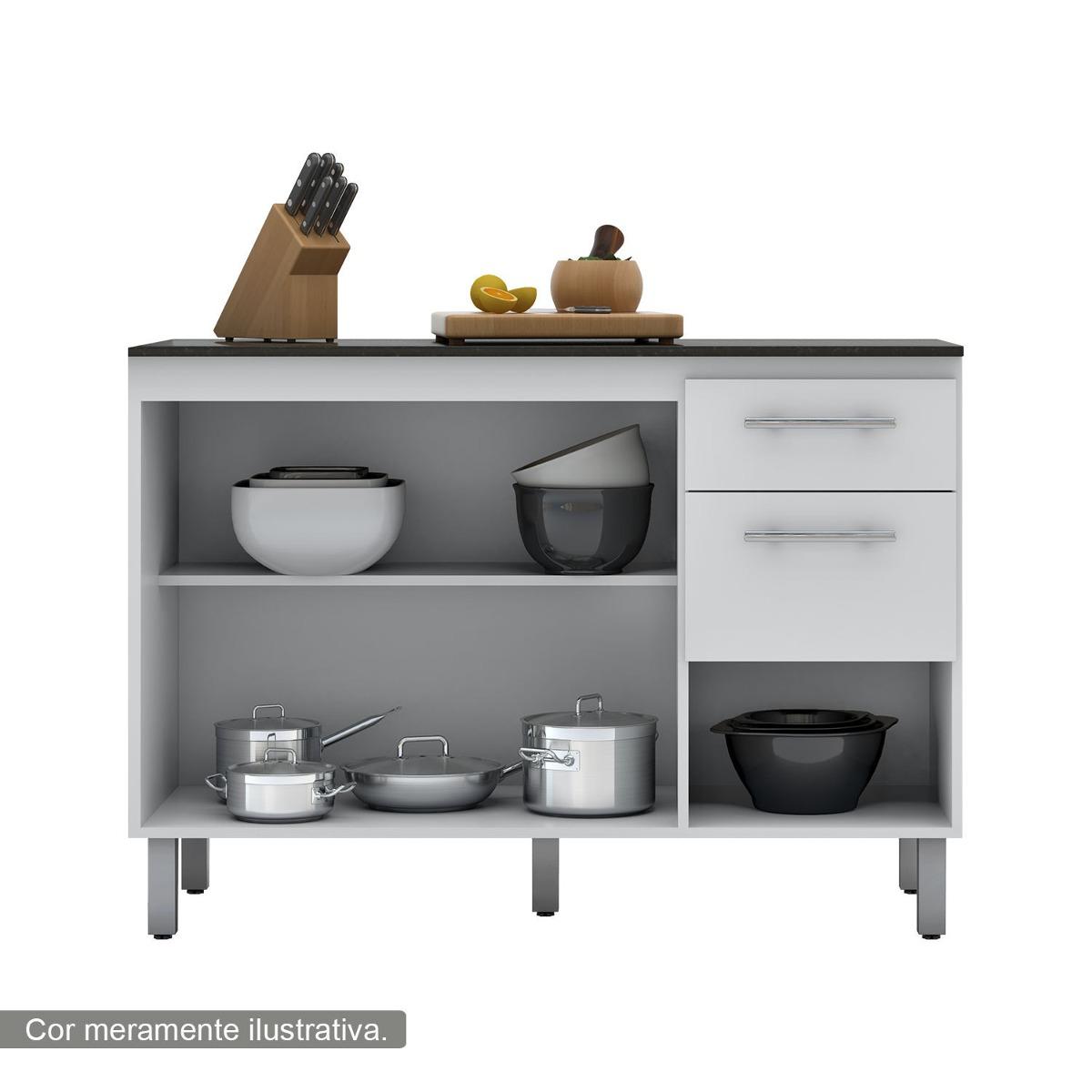 Jogo De Cozinha Mdf Modulado Balcão Paneleiro Armário Aéreo R$ 2  #674B2E 1200 1200