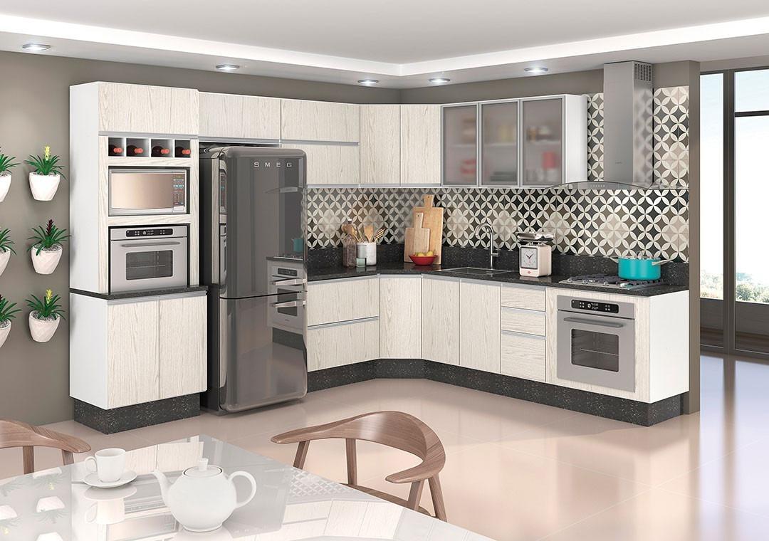 Jogo De Cozinha Modulada Kali Premium 100 Mdf R 3 150 00 Em