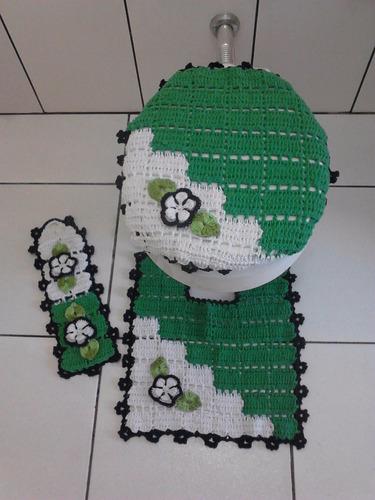 jogo de crochê 4 peças