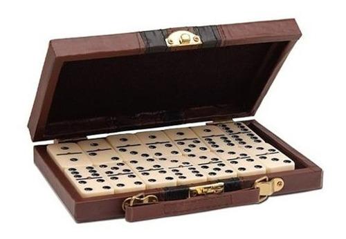 jogo de dominó profissional 28 pedras acompanha maleta luxo