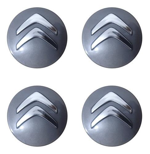 jogo de emblemas de abs em alto relevo citroen prata