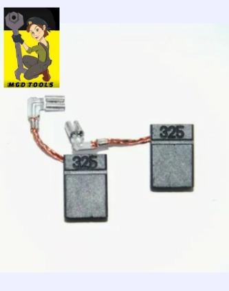 jogo de escova  cb325 - martelete hr 2470 original makita