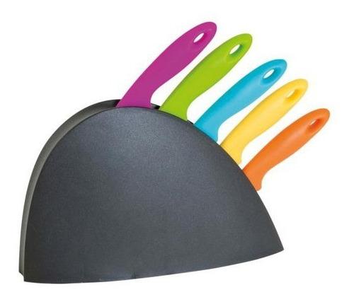 jogo de faca 5 peças ultracorte com suporte churrasco