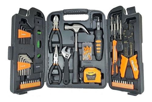 jogo de ferramentas 129 peças alicate chave  martelo trena