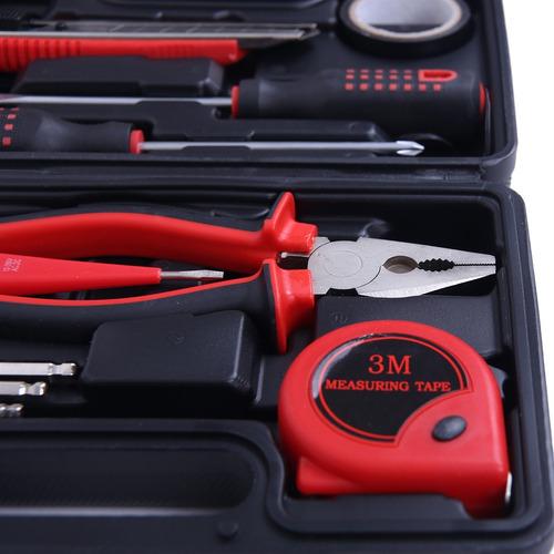 jogo de ferramentas 13 peças alicate chave trena maleta