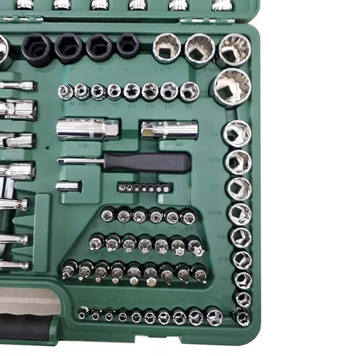jogo de ferramentas 150 peças sata original + chave impacto
