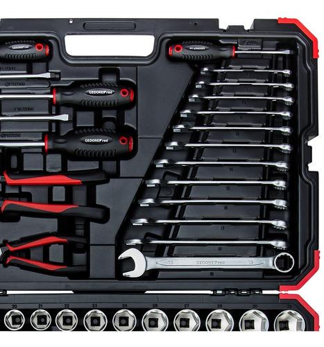 jogo de ferramentas manuais 100 peças r46003100 gedore red