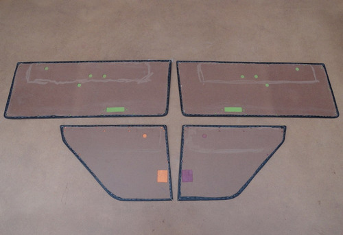 jogo de forros porta corcel i 2 portas 1973 à 1977 novo