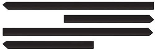 jogo de friso lateral modelo original new fiesta 2010 a 2015