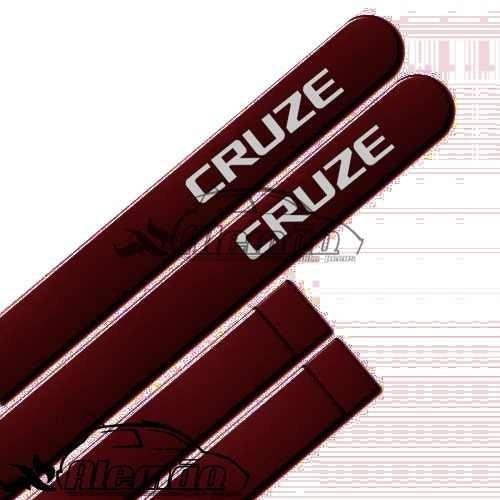jogo de frisos pintado chevrolet cruze vermelho chilli