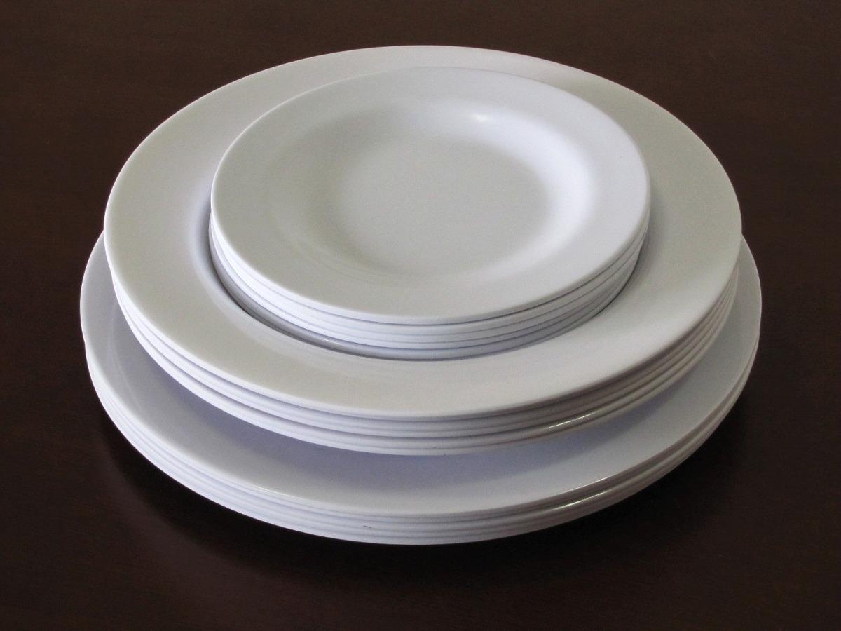 De Jantar Pratos Melamina 18 Peças Plastico R$ 79 90 em Mercado  #271C17 1200x900