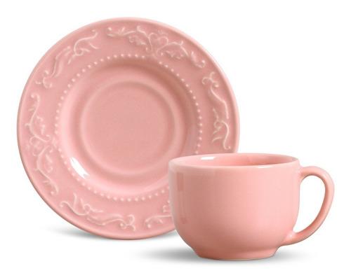 jogo de jantar rosa porto brasil acanthus 30 peças