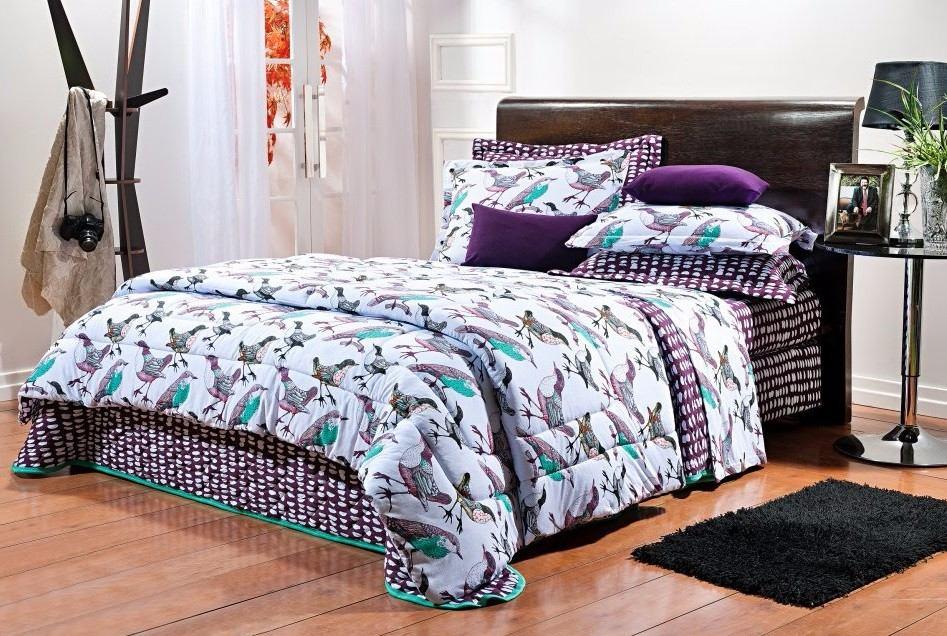 4d4ecfd34d jogo de lençol 4 peças casal malha 100% algodão p  cama box. Carregando zoom .