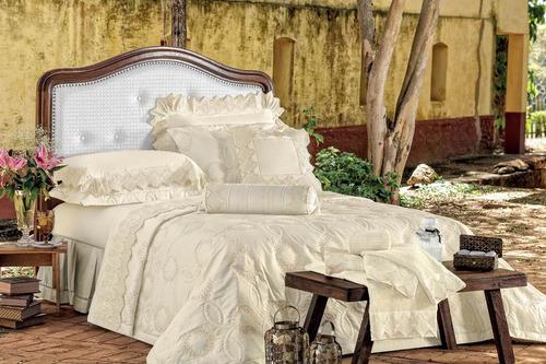 jogo de lençol bourbon 400 fios queen 100% algodão branco