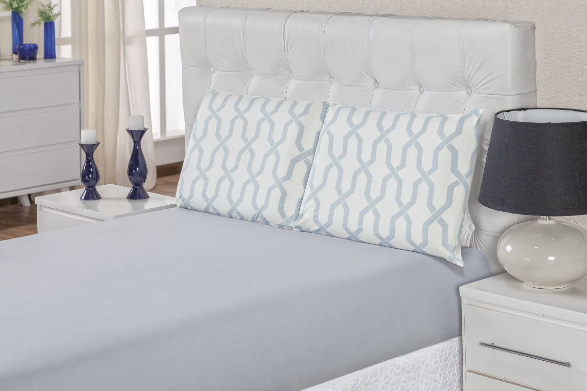 27966474fa jogo de lençol cama casal queen quality 3 peças em malha. Carregando zoom.