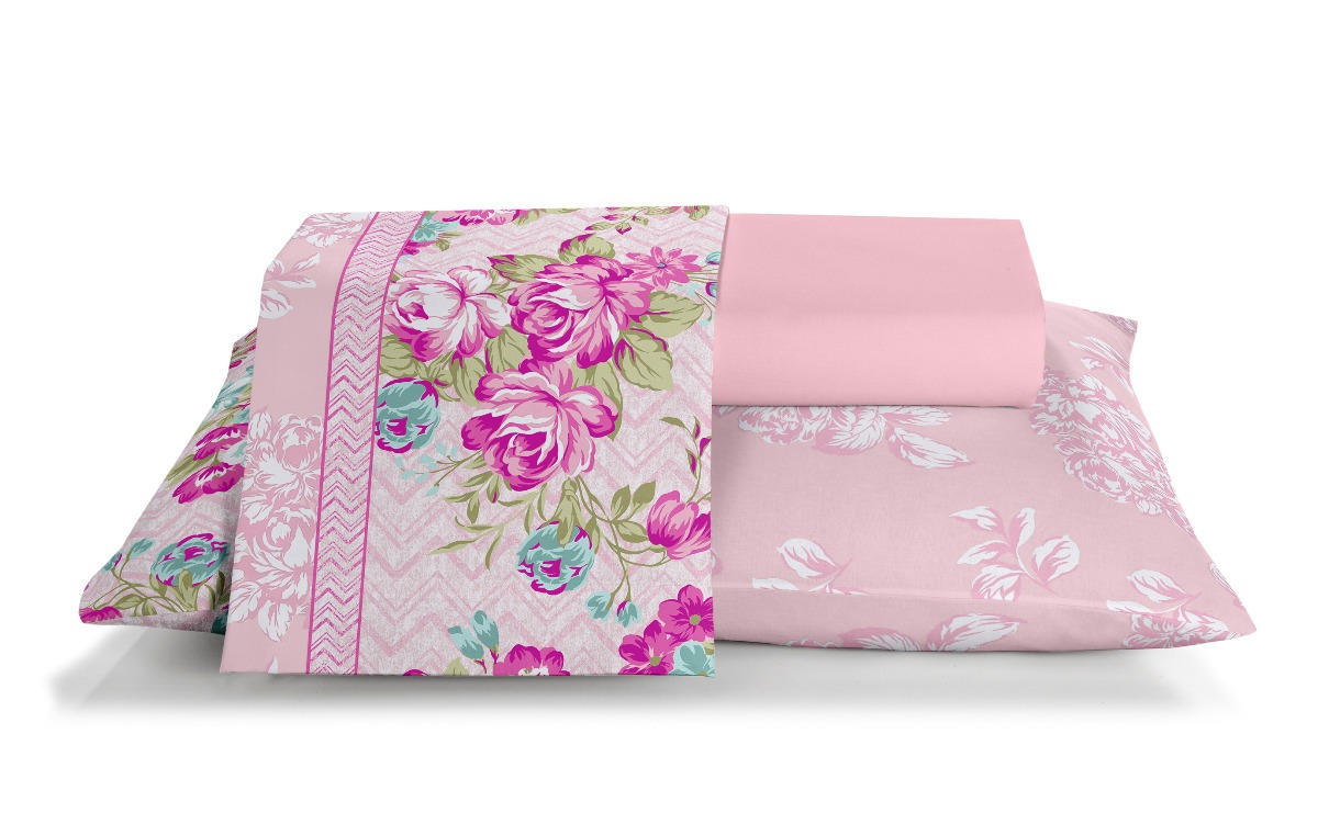 a5bb454c43 jogo de lençol cama casal santista royal 4pçs 100% algodão. Carregando zoom.
