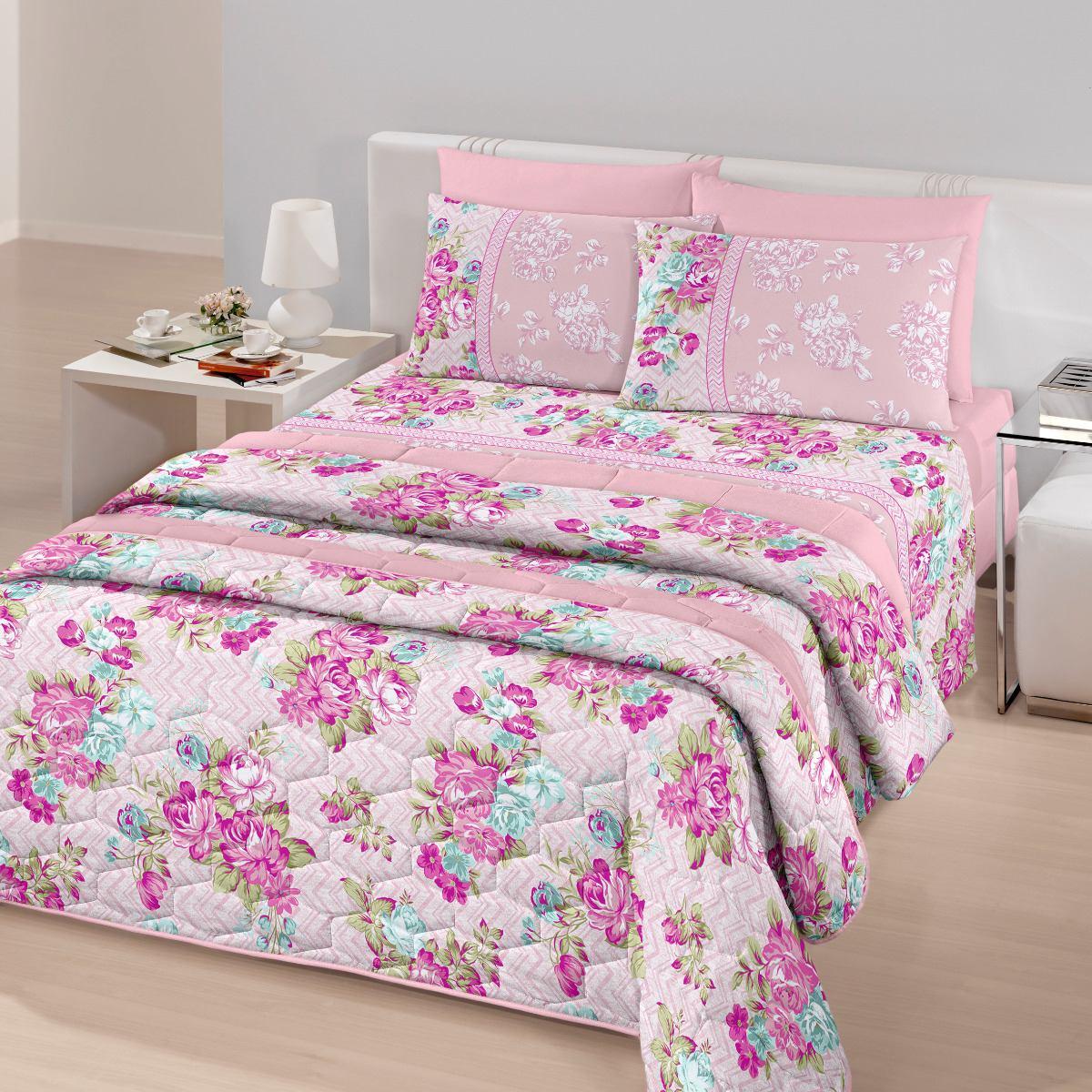 affa877bb8 jogo de lençol cama casal santista royal 4pçs 100% algodão. Carregando zoom.