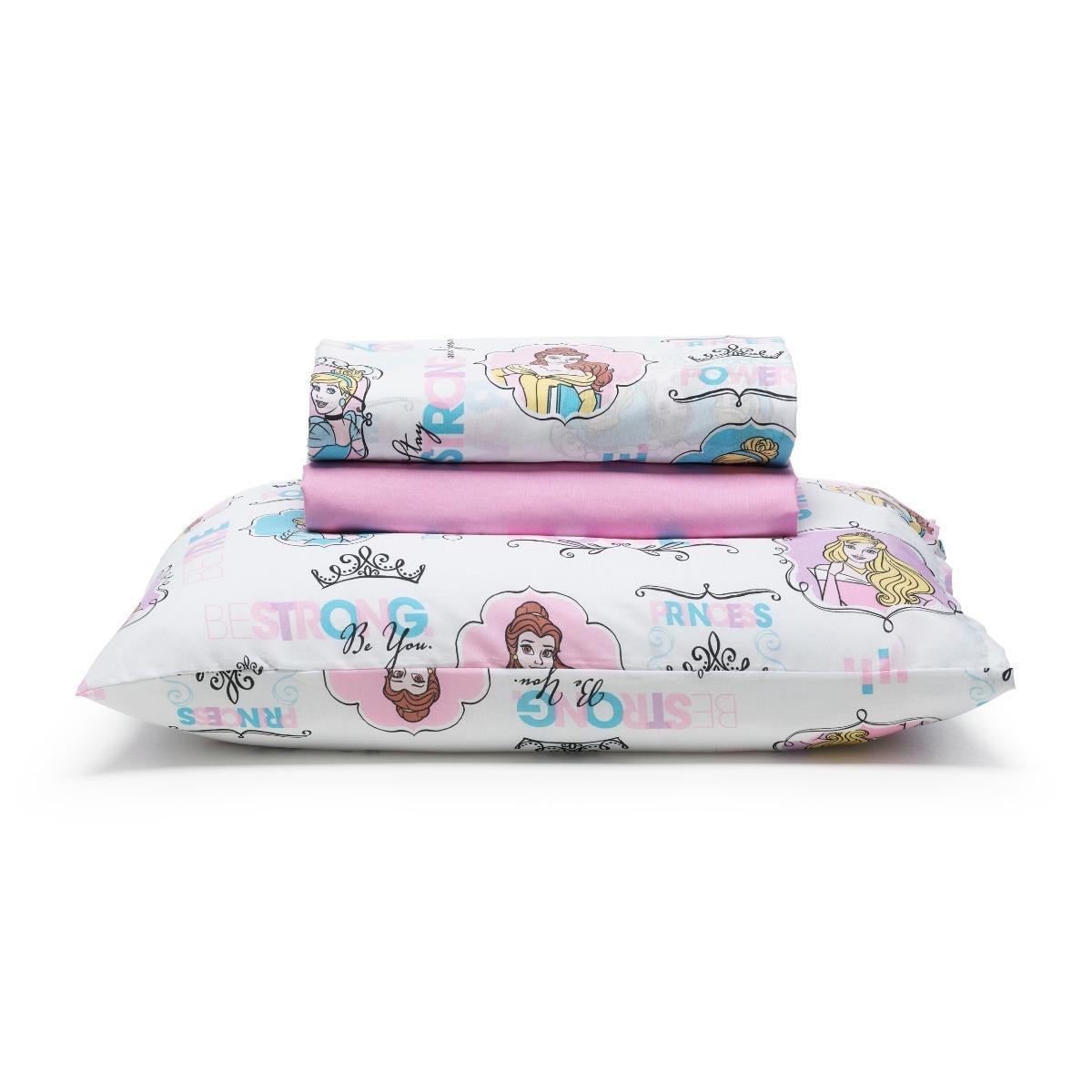 1c0573f3c6 jogo de lençol cama princesas power disney santista 3 peças. Carregando  zoom.