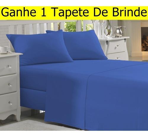 jogo de lençol carinho queen 4 pçs casal cama box +brinde #9